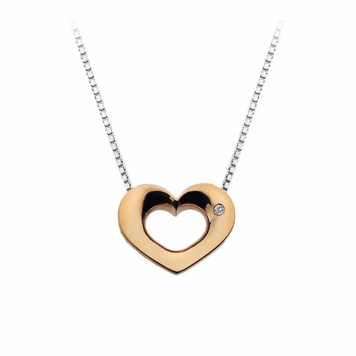 Hot Diamonds Emerge Rose Gold Plated Heart & Chain, Was £69.95