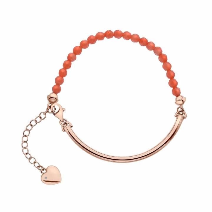 Hot Diamonds Trend Rose Plated Festival Coral Bracelet,Was £69.9