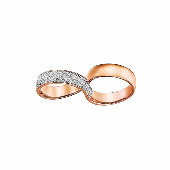 77a096d6b Swarovski Exist Double Ring Size 58, Was £99.00 2602156