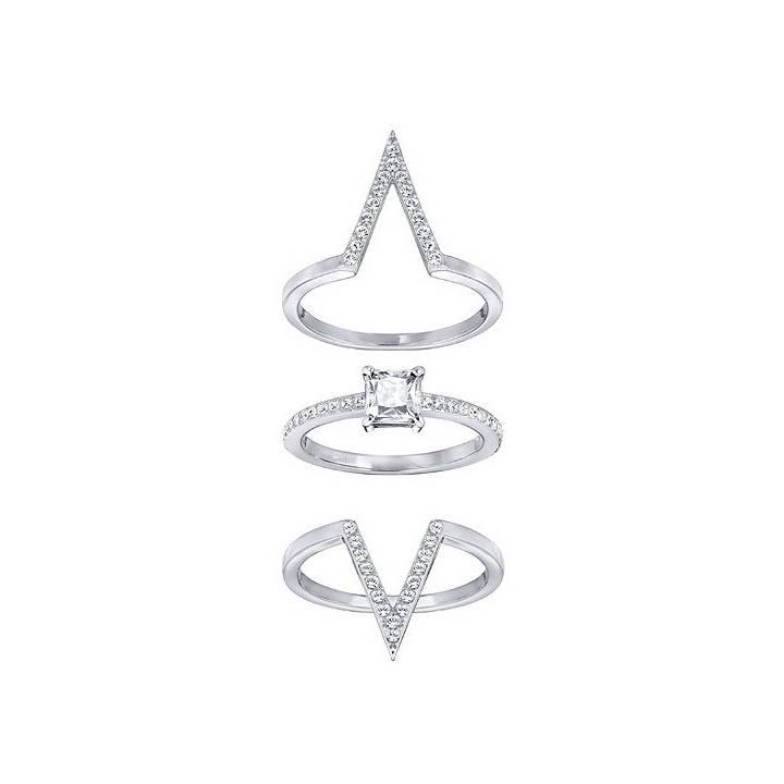 2d9adc676 Swarovski Funk Silver Ring Set, Size 58, Was £99.00 2602170
