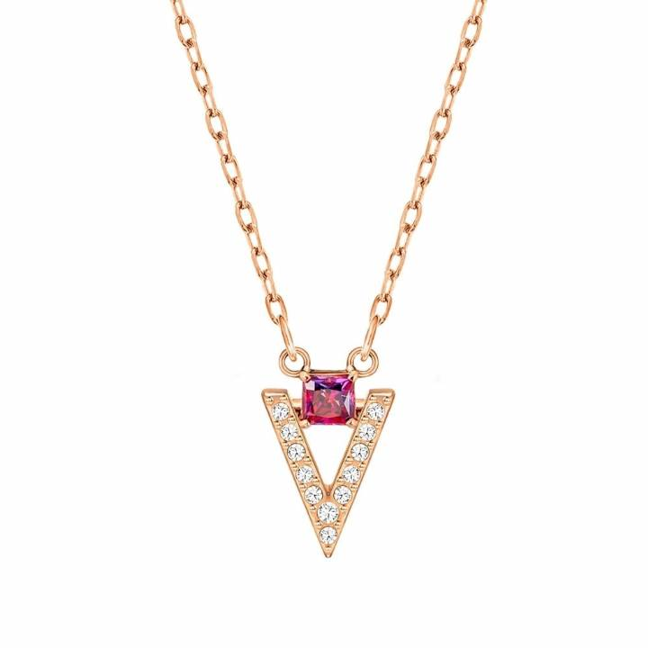 Swarovski Funk White & Pink Crystal Rose Necklace, Was £59.00