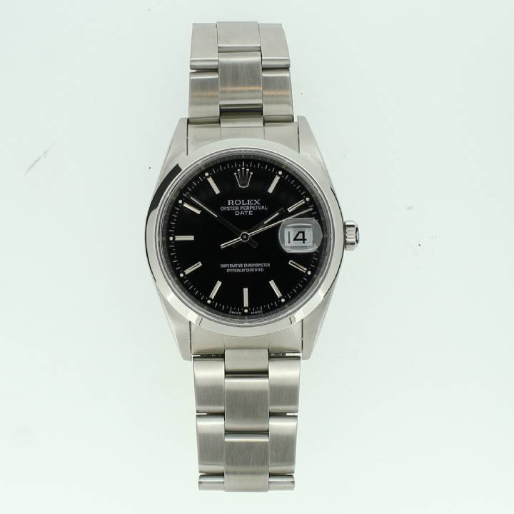 Pre-Owned Gents Rolex Oyster Perpetual Watch, Black Dial