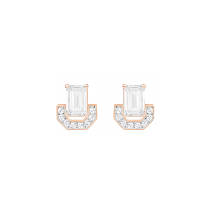 Swarovski Gallery Rose Gold Plated Square Earrings  Was £49.00 2601087