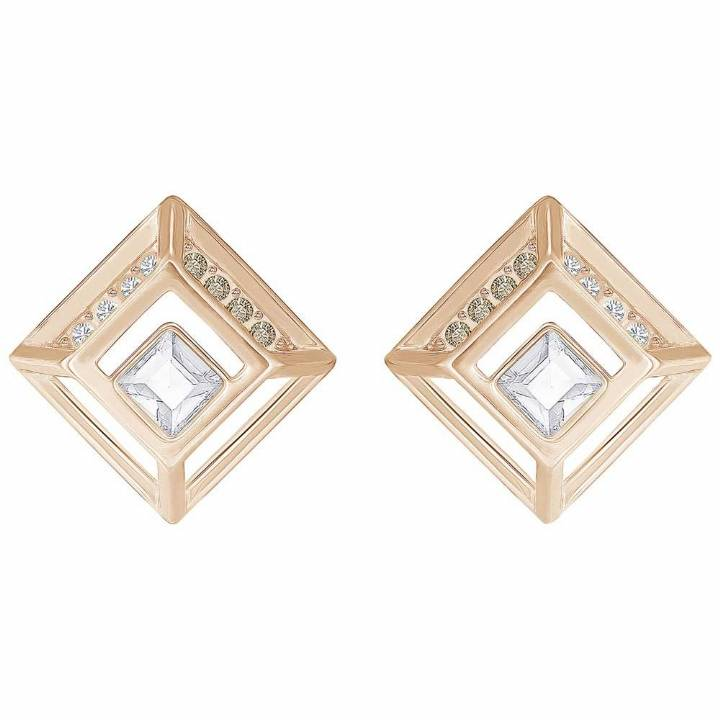 Swarovski Hillock Rose Gold Plated Square Earrings  Was £59.00 2601142