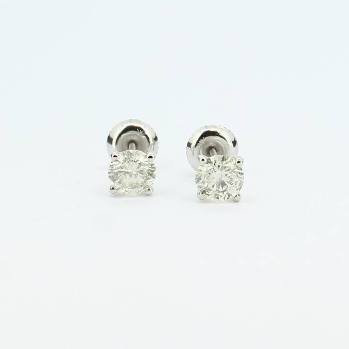 Pre-Owned 18ct White Gold Diamond Stud Earrings, 1.24ct 1607381