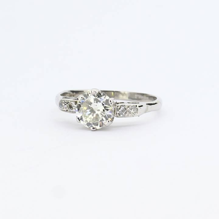 Pre-Owned 18ct White Gold Diamond Solitaire Ring, 1.15ct 7101239