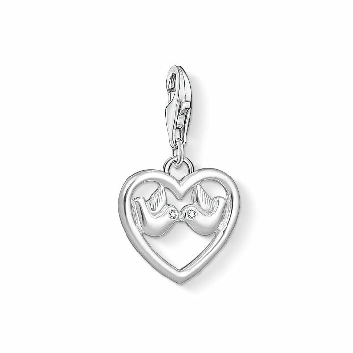 Thomas Sabo Silver  Heart & Doves Charm, Was £29.00 2308981