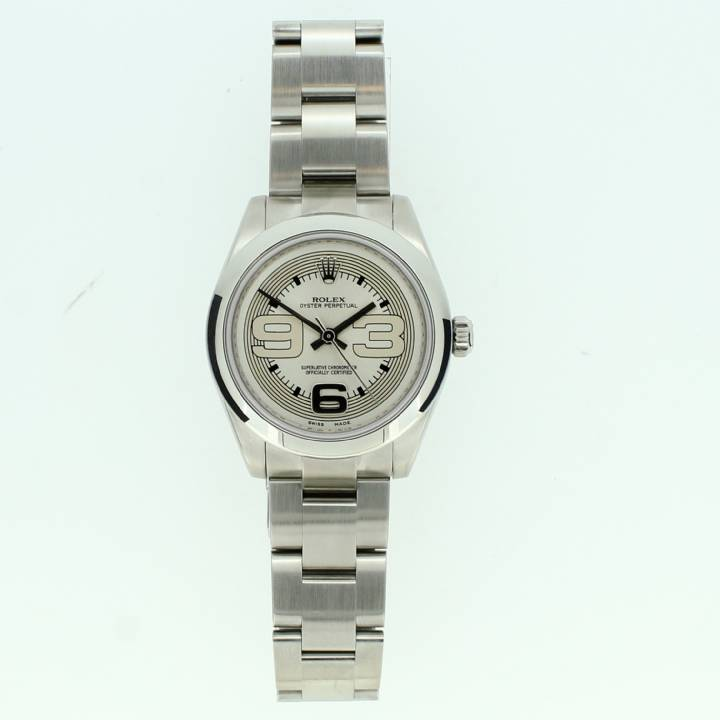 Pre-Owned Ladies Rolex Oyster Perpetual Watch, Silver Dial