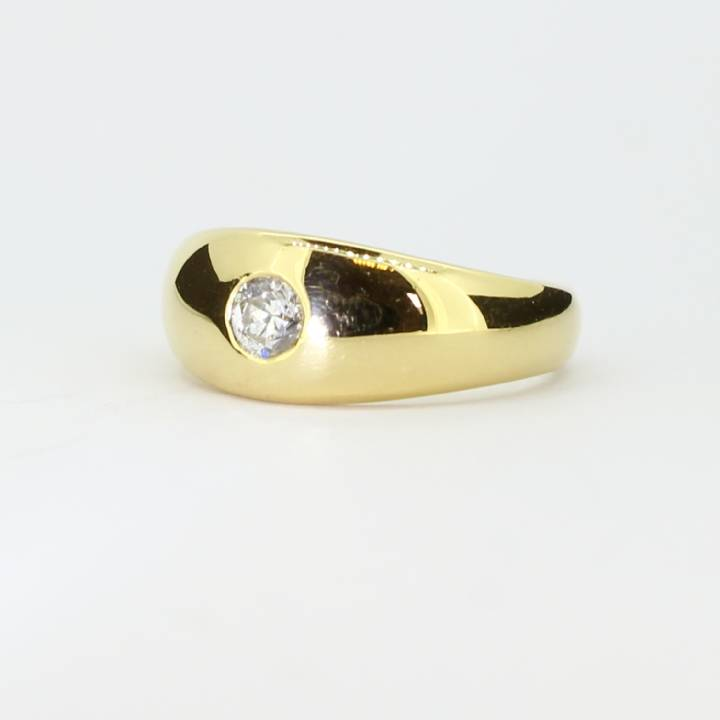 Pre-Owned Gents 18ct Yellow Gold Diamond Signet Ring, 0.25ct 1601621