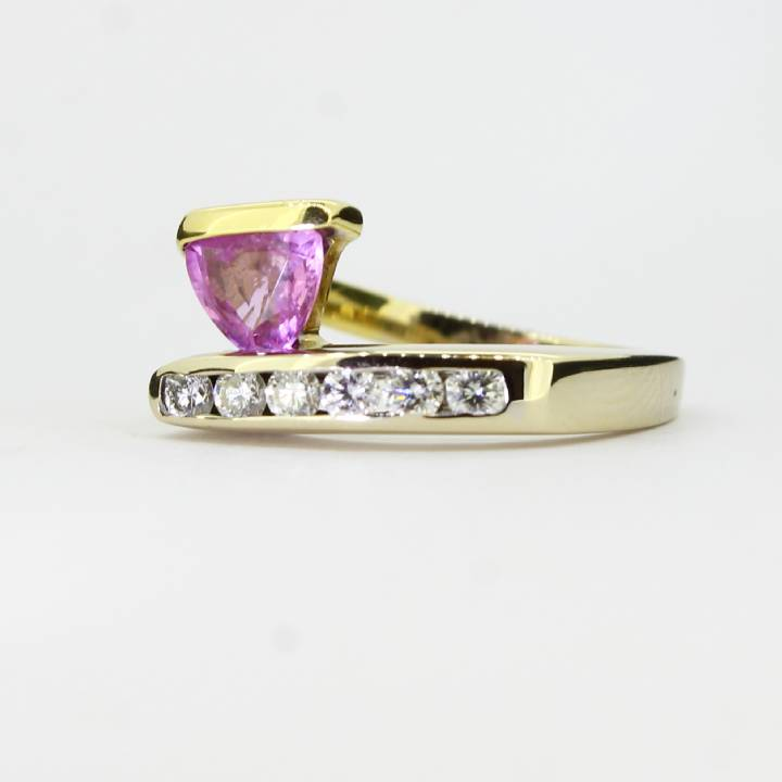 Pre-Owned 2 Colour Diamond And Pink Sapphire Ring, 0.30ct 1606222