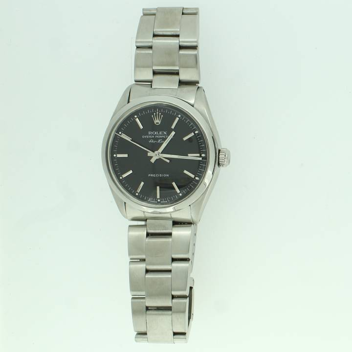 Pre-Owned Rolex Air-King Watch, Black Dial, Year 1978 7201109