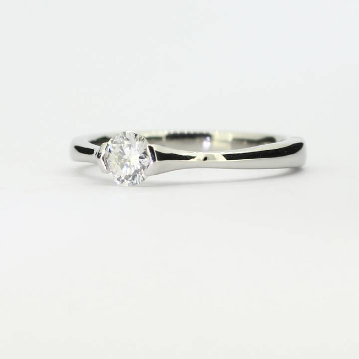 Pre-Owned Platinum Diamond Solitaire Ring 0.35ct  1601726 1601726