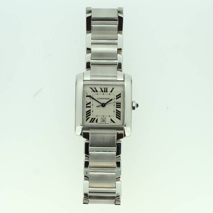 Pre-Owned Gents Cartier Tank Francaise Watch, Original Papers