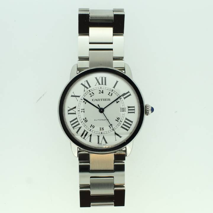 Pre-Owned Gents Cartier Ronde Solo Watch, Original Papers