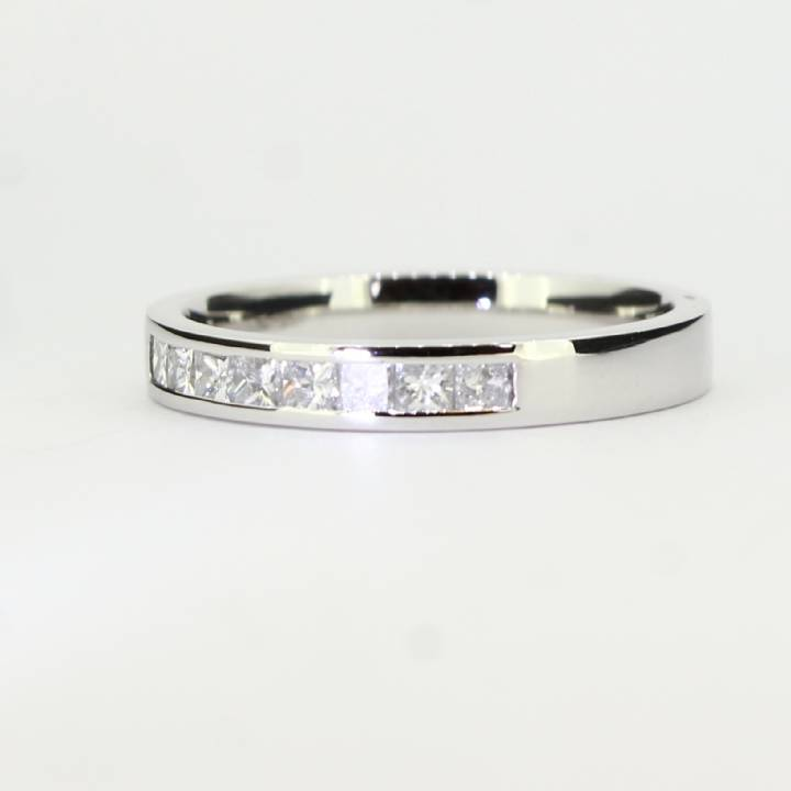 Pre-Owned 18ct White gold Diamond 1/2 Eternity Ring, 0.50ct 1603165