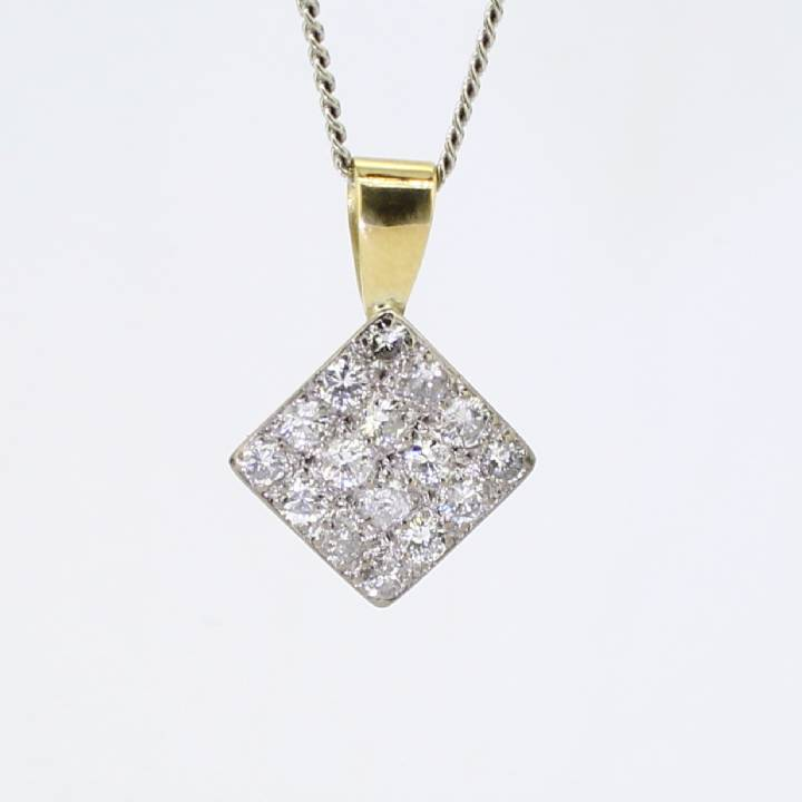 Pre-Owned 18ct White Gold Diamond Cluster Pendant, 1.12ct