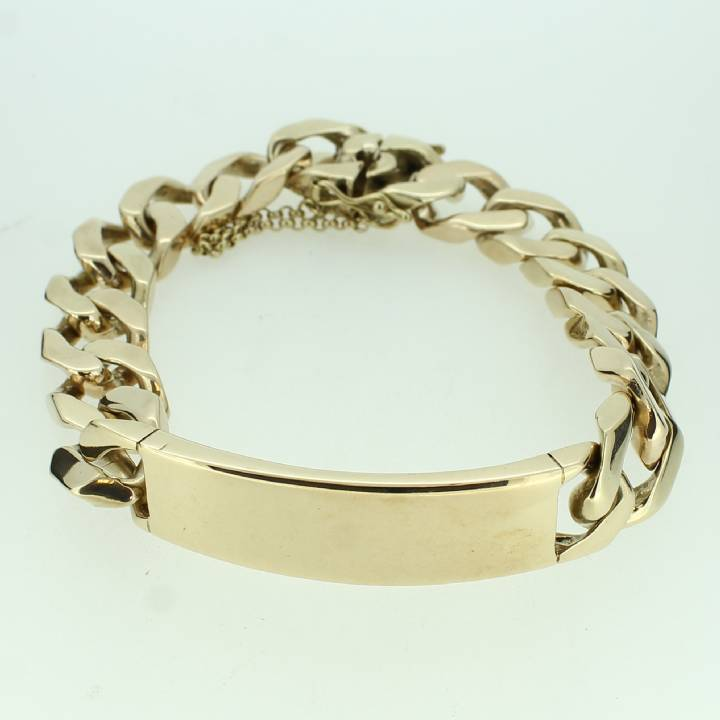 Pre-Owned Gents 9ct Yellow Gold Identity Bracelet