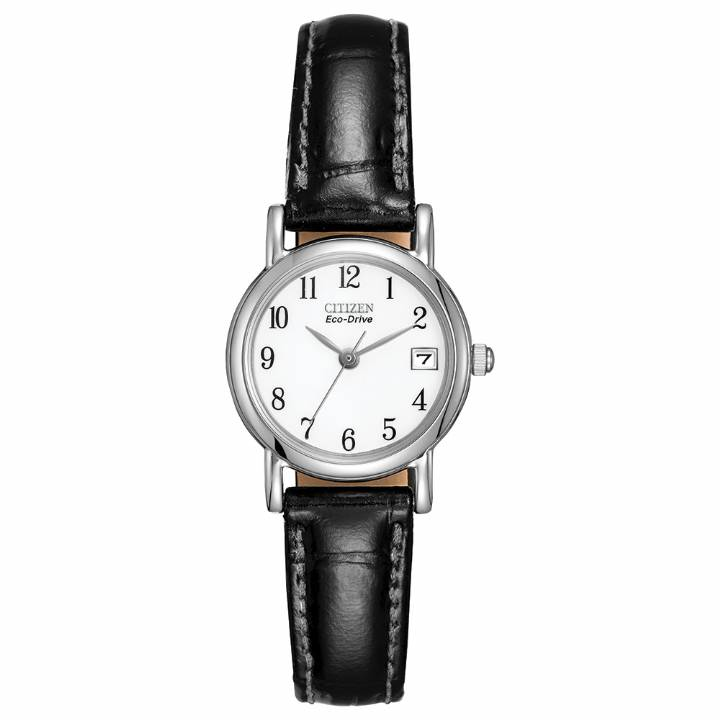 Citizen Ladies Eco-Drive Black Strap Watch,  Was £109
