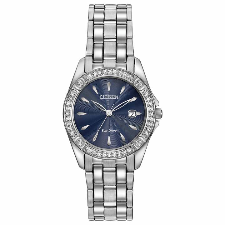 Citizen Ladies Eco-Drive Silhouette Crystal Watch, Was £199 0103306