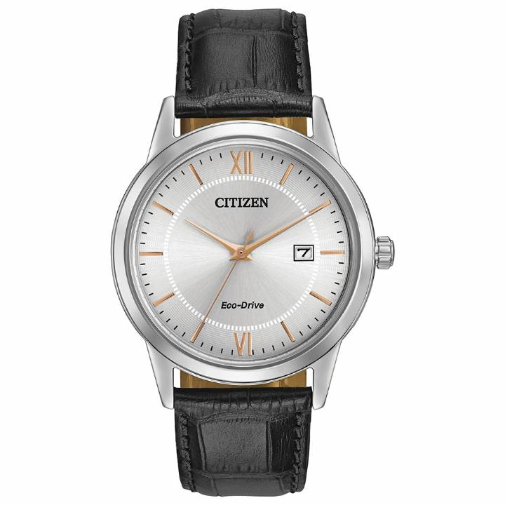 Citizen Gents Eco-Drive Black Strap Watch,  Was £139