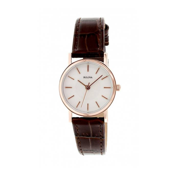Bulova Ladies Brown Strap Watch, Was £129 0140001