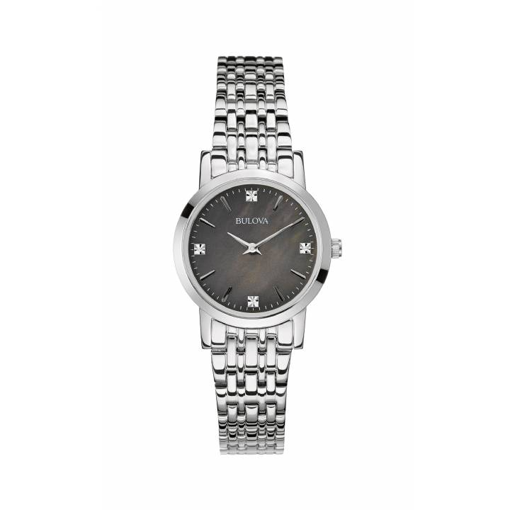 Bulova Ladies Steel Diamond Set Dial Watch, Was £249 0140014