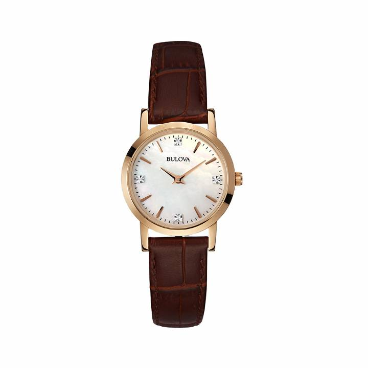 Bulova Ladies Rose Gold Plated Watch 97S105,  Was £199 0140016