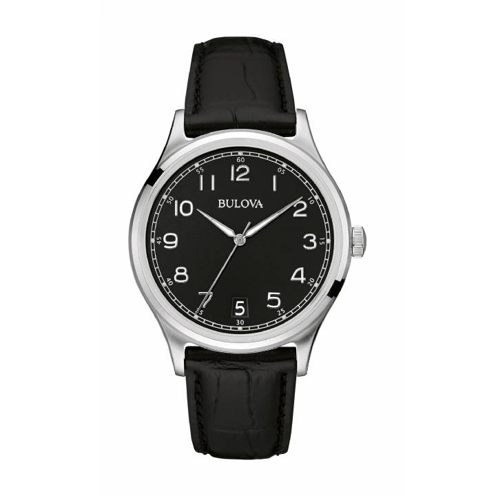 Bulova Gents Black Classic Watch 96B233,  Was £159