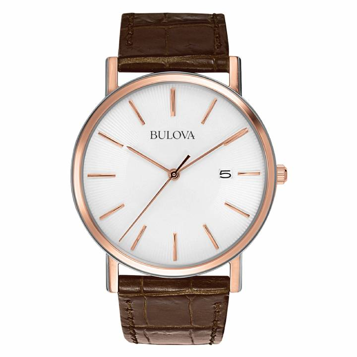 Bulova Gents Rose Gold Plated Watch 98H51,  Was £139