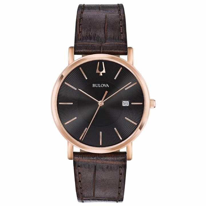 Bulova Gents Brown Classic Watch 97B165  Was £119