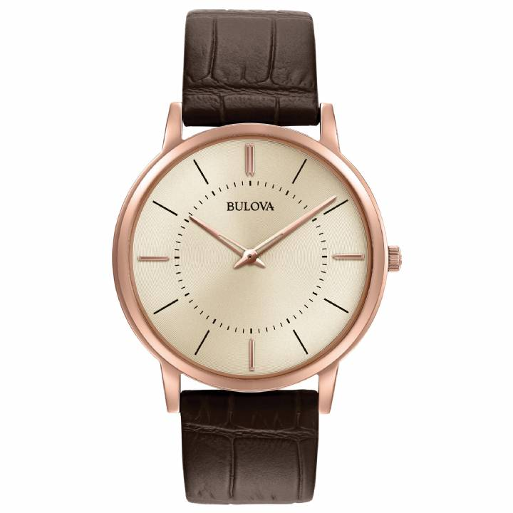 Bulova Gents Rose Ultra-Slim Watch 97A126  Was £199