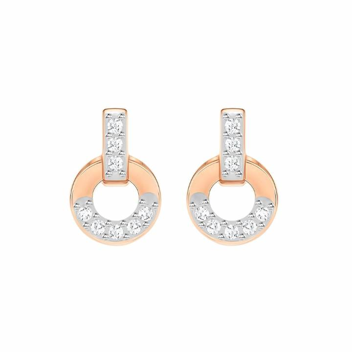 Swarovski Circle Rose Gold Plated Stud Earrings, Was £45.00