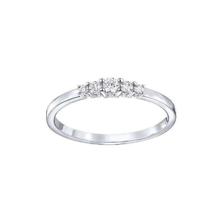 Swarovski Frisson Rhoduim Plated Ring Size 58, was £45.00 2602180
