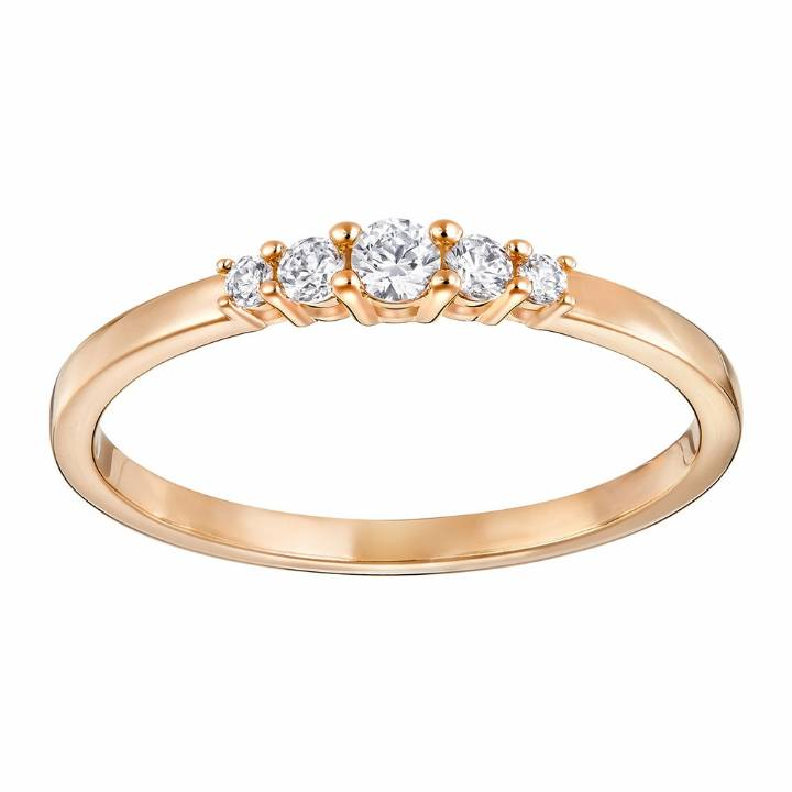 Swarovski Frisson Rose Gold Plated Ring Size 58, Was £45.00