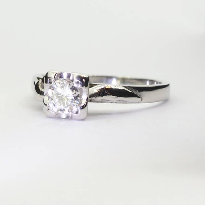 Pre-Owned 18ct White Gold Diamond Solitaire Ring 7101047