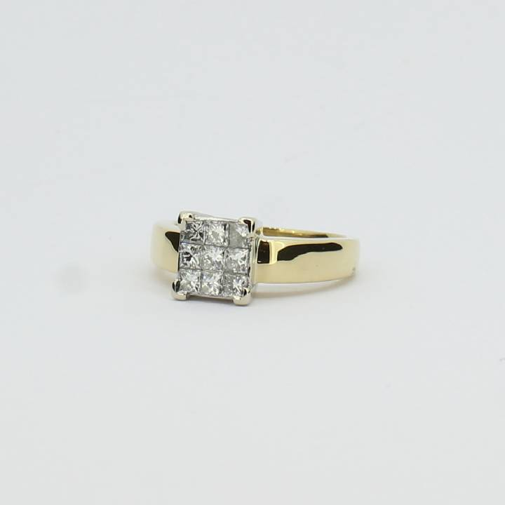 Pre-Owned 18ct Yellow Gold Diamond Cluster Ring 0.50ct Total 1605499