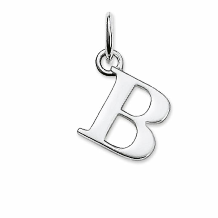 Thomas Sabo Sterling Silver Letter B Pendant, Was £19.95