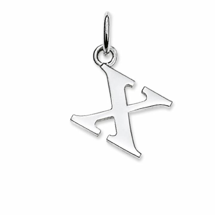 Thomas Sabo Sterling Silver Letter X Pendant, Was £19.95