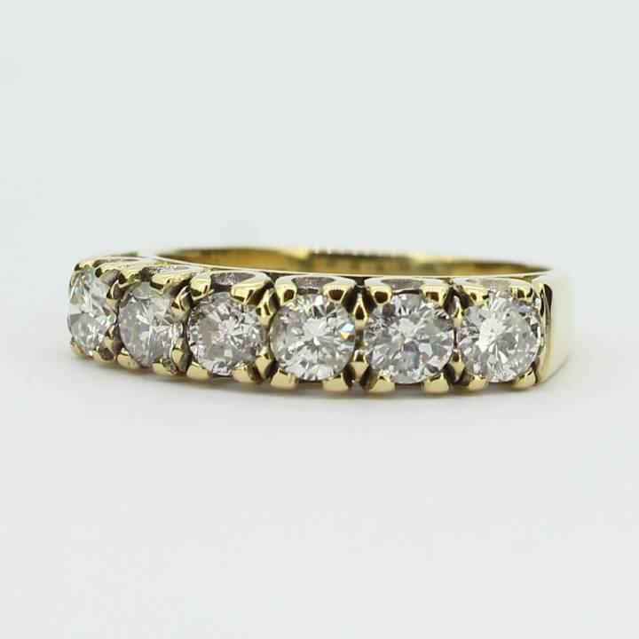 Pre-Owned 18ct Yellow Gold Diamond Half Eternity Ring 1.00ct 1603259