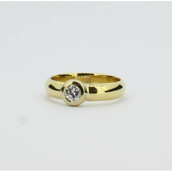 Pre-Owned 18ct Yellow Gold Diamond Solitaire Ring 0.28ct 7101274