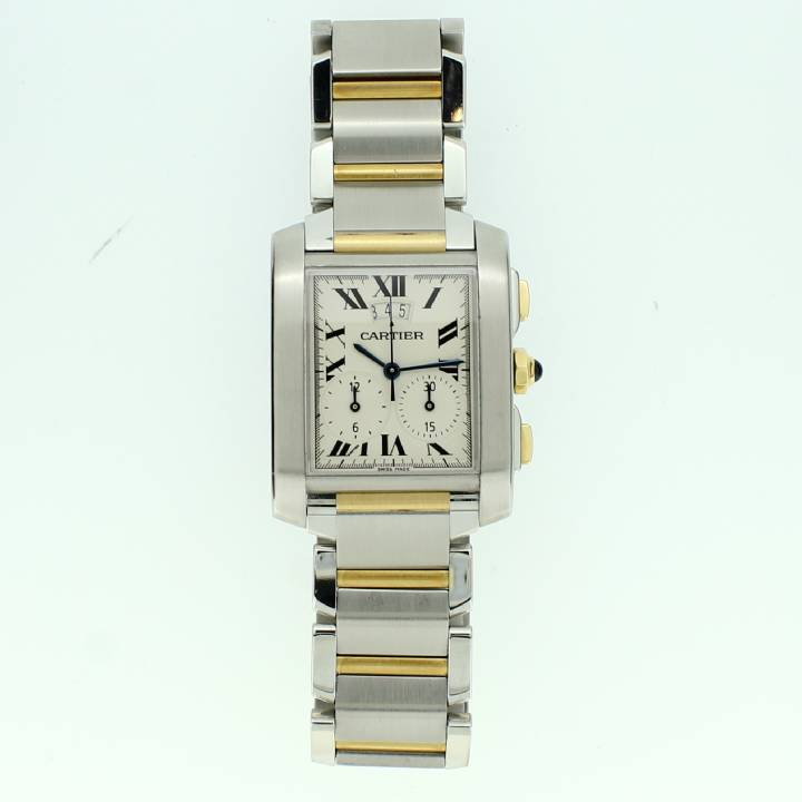 Pre-Owned  Cartier Tank Francaise Chrono Watch, Original Papers 1702306