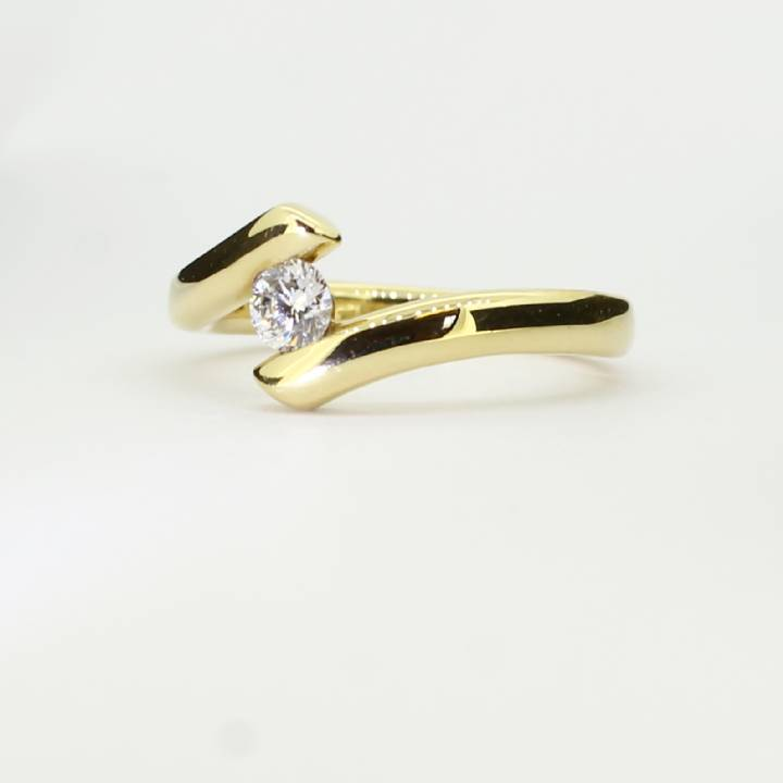 Pre-Owned 18ct Yellow Gold Diamond Solitaire Ring 0.25ct 7101279