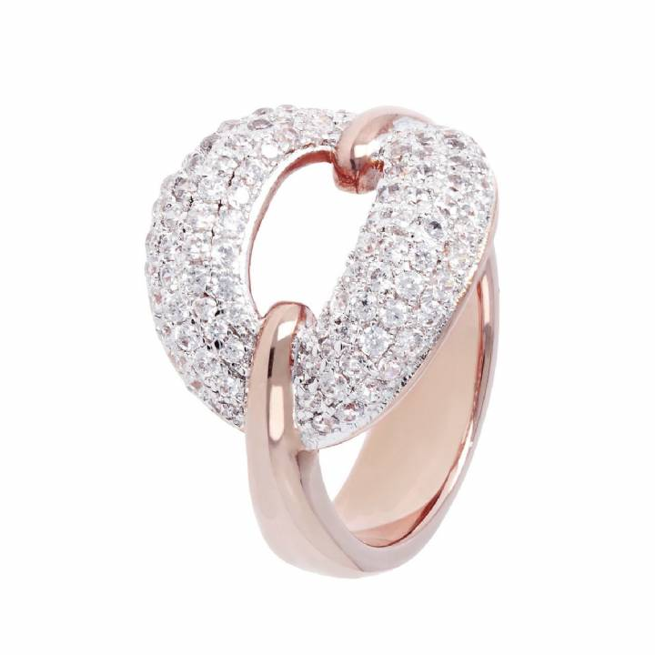 Bronzallure CZ Pave Set Oval Ring,  Was £79.00