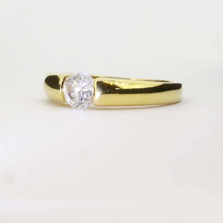 Pre-Owned 18ct Yellow Gold Diamond Solitaire Ring 0.50ct 1601010