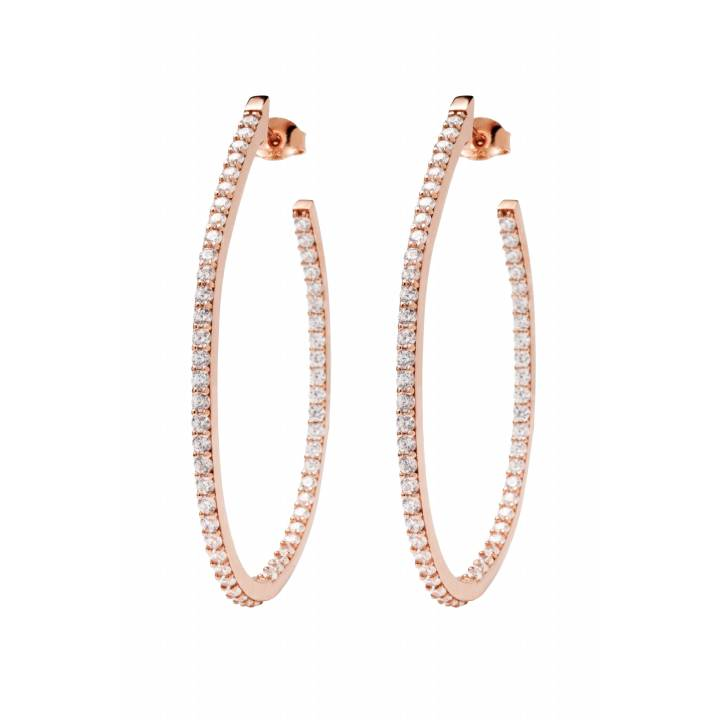 Bronzallure CZ Set Large Hoop Earrings, Was £89.00