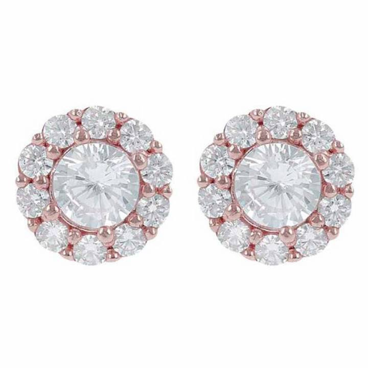 Bronzallure Altissima CZ Cluster Stud Earrings, Was £89.00