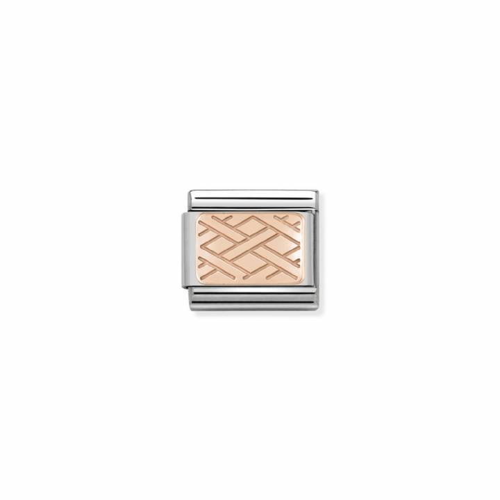 Nomination Steel & Rose Gold Plate Weave Charm 2401648