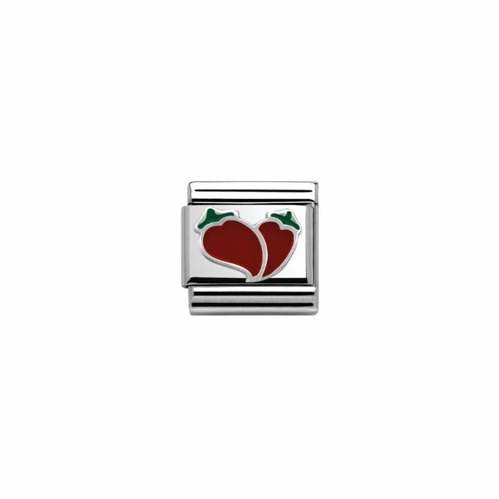 Nomination Steel & Silver Enamel Chilli Hearts Charm