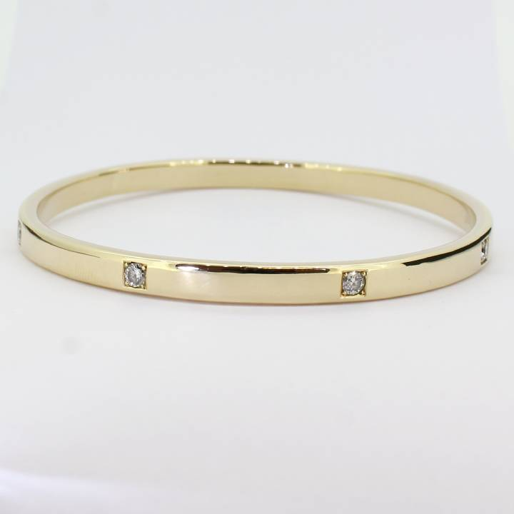 Pre-Owned 9ct Diamond Slave Bangle 0.88ct Total