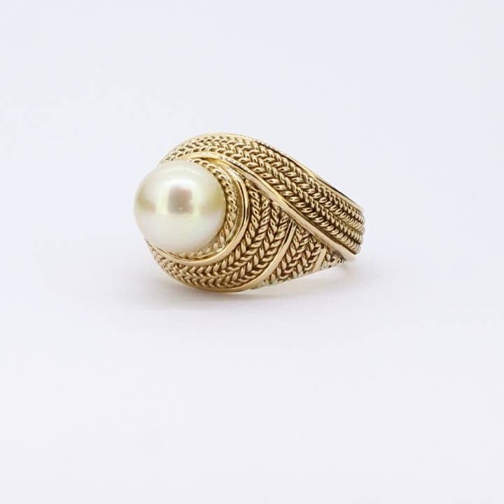Pre-Owned 18ct Yellow Gold Cultured Pearl Ring 1515848